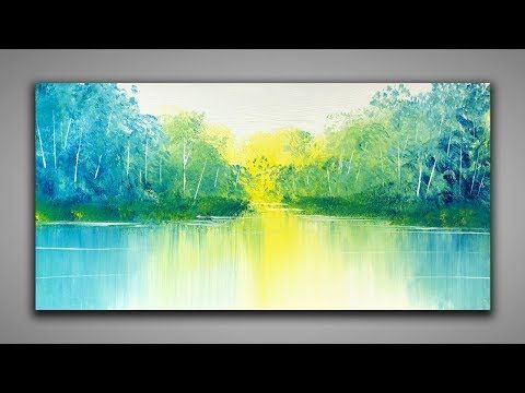 Simple landscape painting / 139 / Leisure / Playing with paints / Abstract painting / Demonstration – YouTube