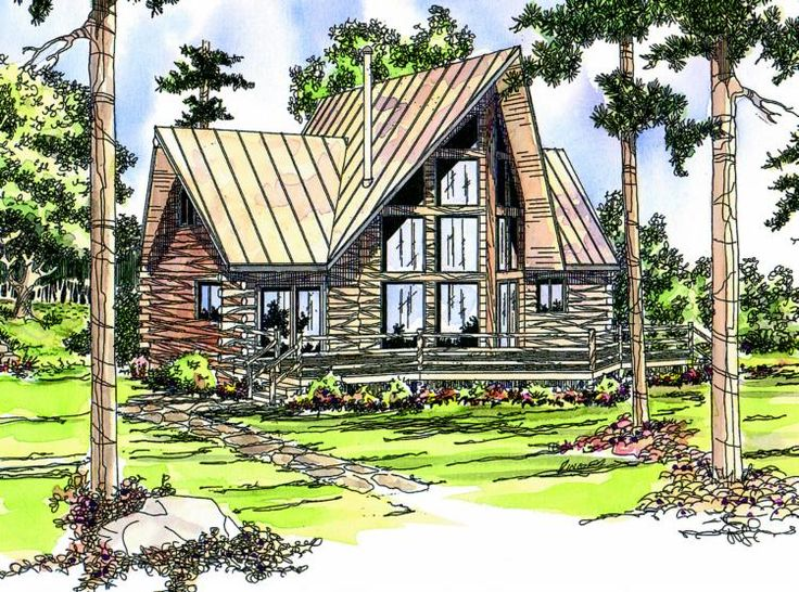 House Plan 035 00142   Cabin Plan: 1,216 Square Feet, 2 Bedrooms, 2  Bathrooms