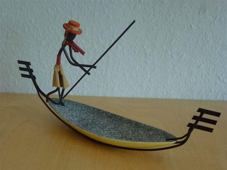 Annons på Tradera: Figurin Gondoliere 50-tals Bonfils mycket bra skick