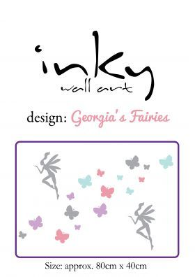 Inky Design Georgia's Fairies. wall decal. removable wall decorations for girls