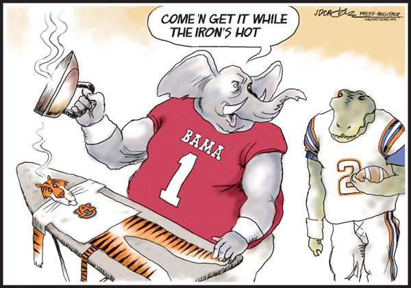 Alabama Crimson Tide Cartoon | Hot Iron Bowl | al.com