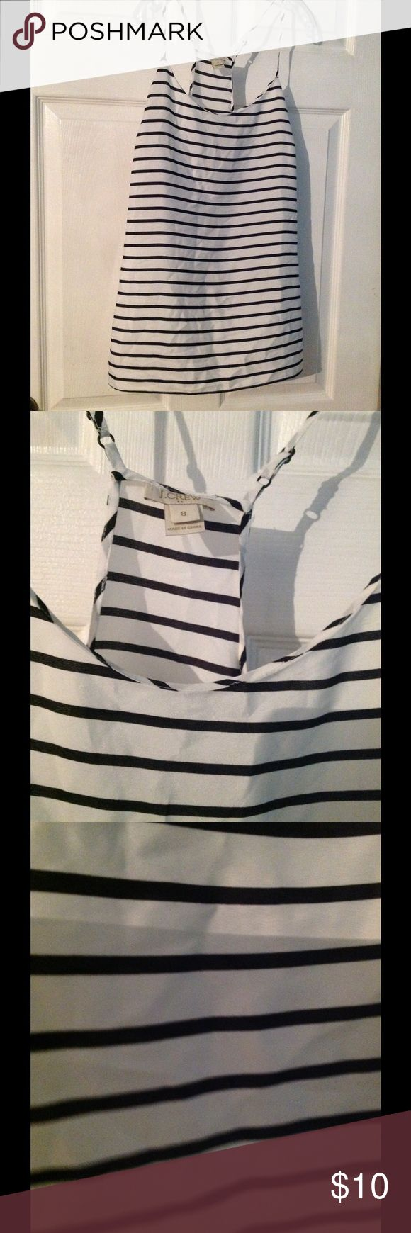 Blouse Black and white cami top.  Worn as an outer garment. J. Crew Tops Camisoles
