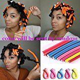 Spiral Hair Foam Curler Random Color Soft Foam Bendy Set,Cheap Twist Curls Flex Rods Hair Roller Curler Hairstyle Foam Curler Tool 40 pieces/lot