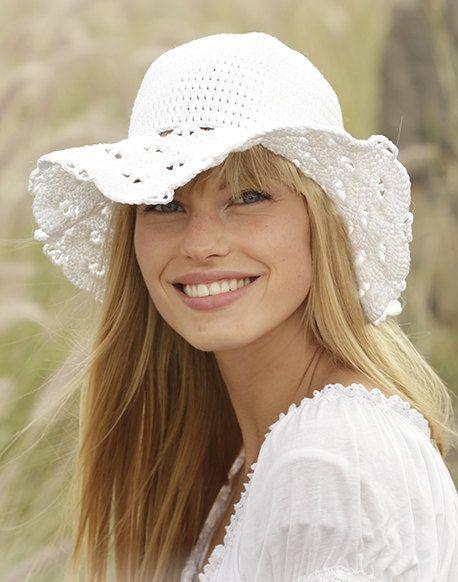 Floppy beach hat Sun hat womens Cloche hat Summer by prettyobject