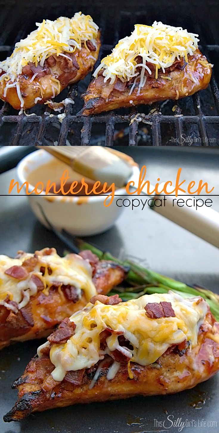 MONTEREY CHICKEN, I love the combination of bacon, cheese and bbq sauce!