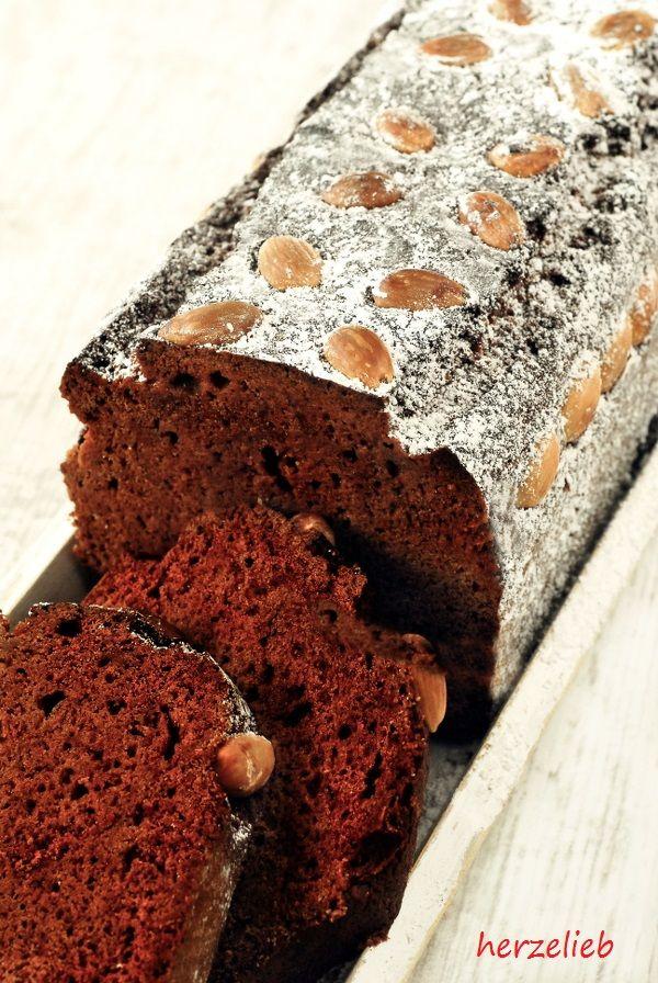 dänischer Honigkuchen. Mit Gewürzen und Honig toll zum Frühstück oder Kaffee. herzelieb.de