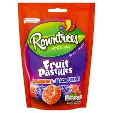 Rowntrees Fruit Pastilles Red&Black Pouch 150G
