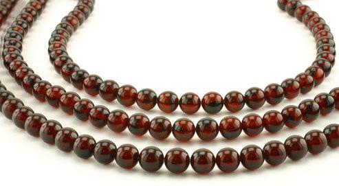 SmartyHands.com: Amber (cherry) round 6mm /20cm
