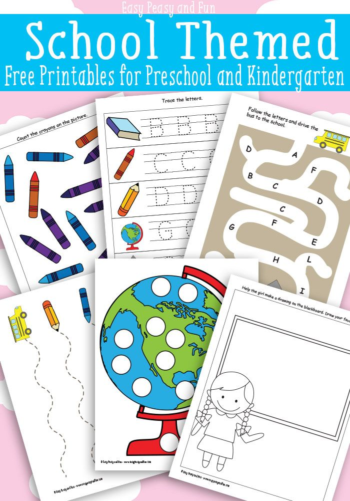 """School Themed Printables for Preschool - This fun and free printable is perfect for """"back to school"""""""