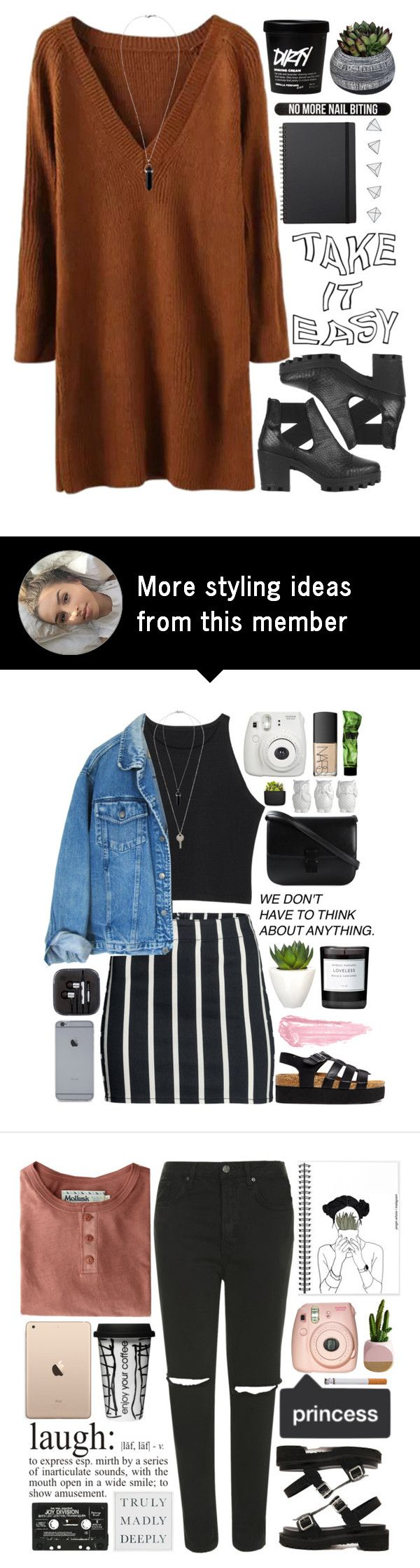 """#383 Egress"" by mia5056 on Polyvore featuring Topshop, Half Light Honey, Bershka and Muji"
