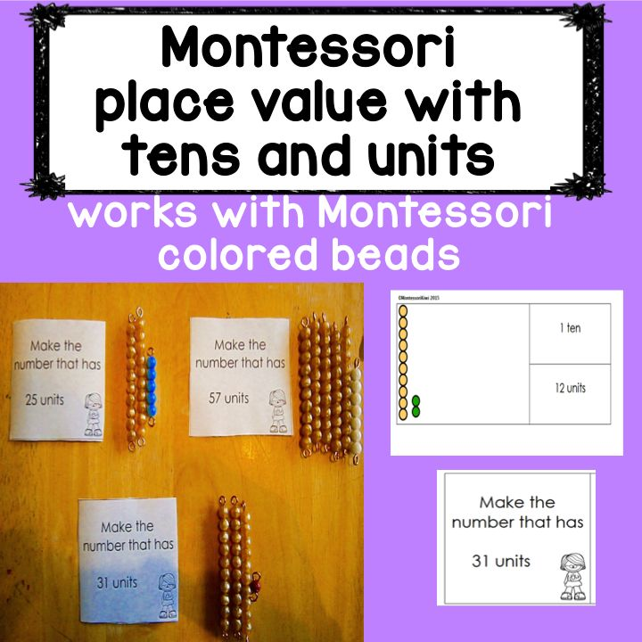 A Montessori Elementary Math activity. 3 hands on activities using montessori equipment to teach place value with tens and units