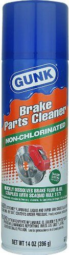 Gunk M710-12PK Non-Chlorinated Brake Parts Cleaner – 14 oz., (Case of 12)  Gunk M710-12PK Non-Chlorinated Brake Parts Cleaner - 14 oz., (Case of 12) Ultra-fast drying, no Chlorinated solvents, cleans and degreases brake linings, cylinders, drums, rotors, clutches, CV joints, leaves no residue, 50-state compliant.  http://www.newmotorcyclestore.com/gunk-m710-12pk-non-chlorinated-brake-parts-cleaner-14-oz-case-of-12-2/
