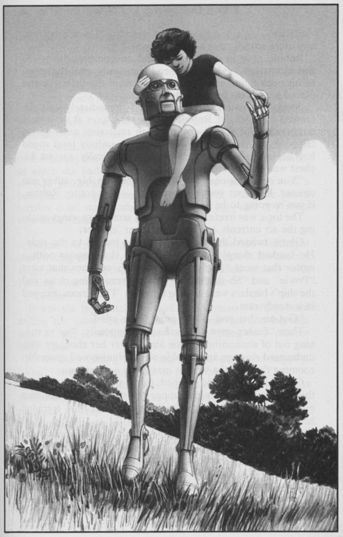 Ralph McQuarrie positronic robots Illustrations for Isaac Asimov Robot Vision.