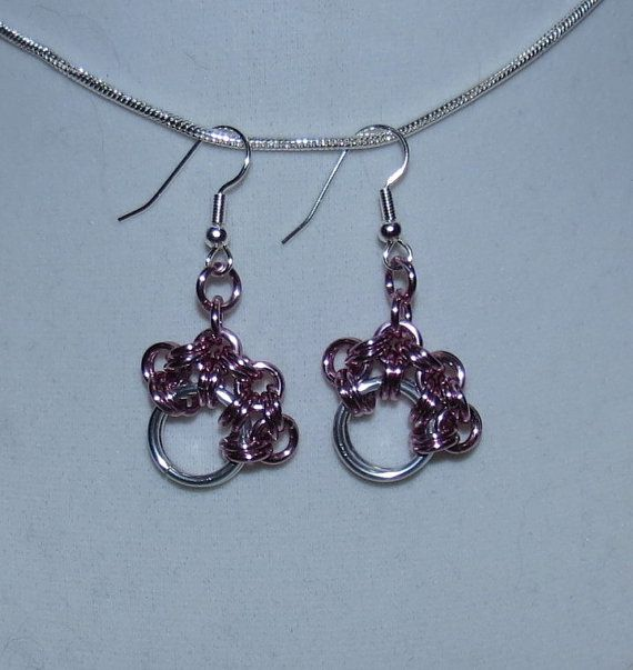 Paw Print Chainmaille Earrings by PawInspiredCreations on Etsy