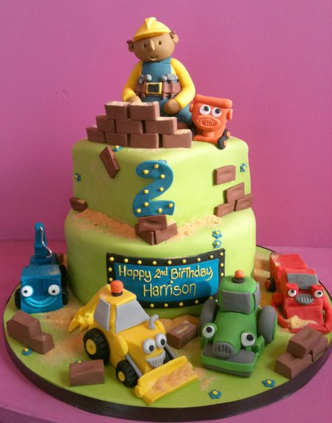 Best Construction Birthday Party Images On Pinterest Birthday - Happy birthday bob cake