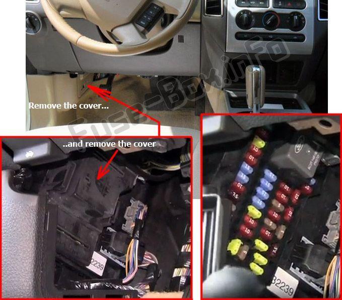 Ford Edge 2007 2010 Fuse Box Location Ford Edge Fuse Box
