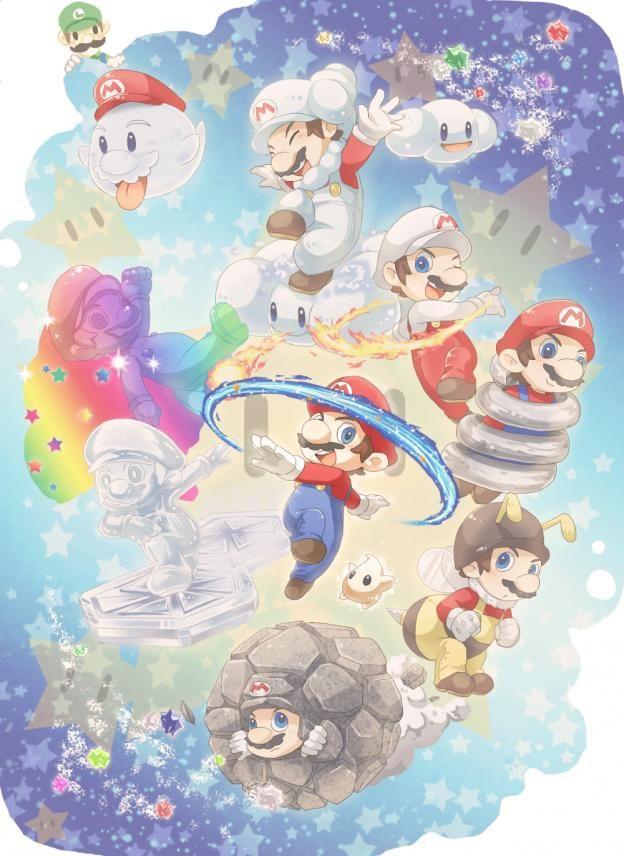 All Mario transformations in Super Mario Galaxy 2! With Luigi and Baby Luma.