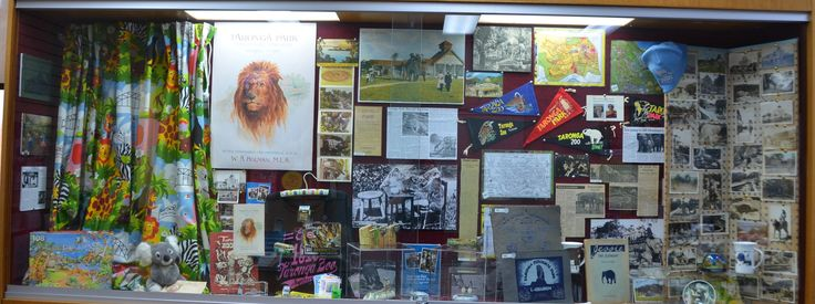 Celebrating 100 years of Taronga Zoo with a display of souvenirs, postcards  and guide books from 1916