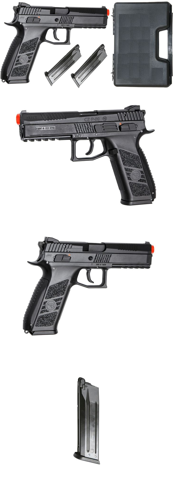 Pistol 160921: Asg Cz P-09 Tactical Airsoft Pistol Blowback W 2 Green Gas Mags And Gun Case -> BUY IT NOW ONLY: $151.95 on eBay!