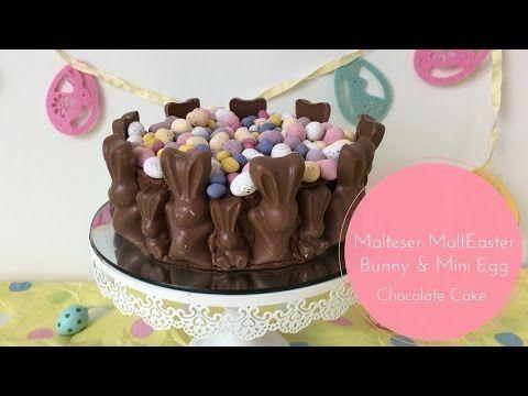 Malteser MaltEaster Bunny & Mini Egg Chocolate Cake - mummy mishaps