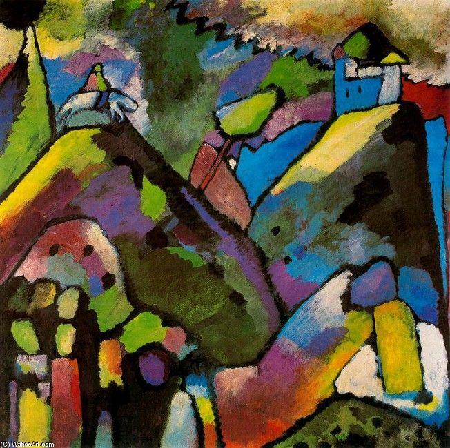 'Improvisación 9', oleo de Kandinsky (1866-1944, Russia)