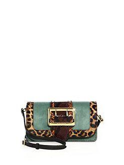 Burberry - Chipstead Patchwork Multicolor Snakeskin, Calf Hair & Suede Shoulder Bag