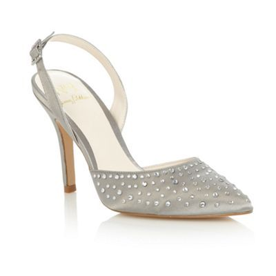 No. 1 Jenny Packham Silver 'Leigha' embellished court shoes- at Debenhams.com