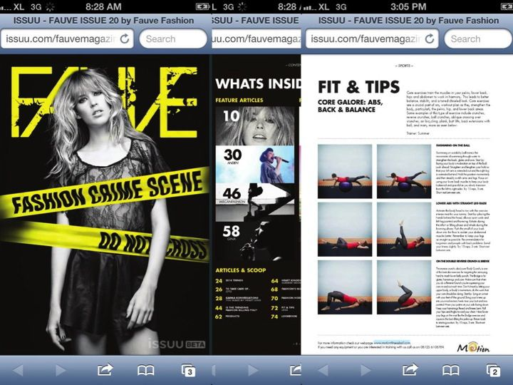 as seen in Fauve Magazine, Bali. Fit&Tips