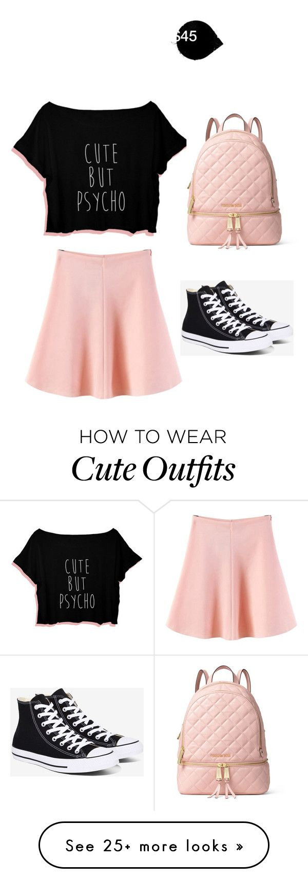 """""""My First Polyvore Outfit"""" by rileylowe226 on Polyvore featuring WithChic, Converse and MICHAEL Michael Kors"""