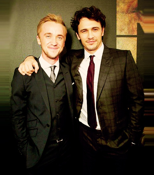 tom felton & james franco. the hotness is overwhelming.