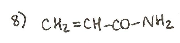 Ejercicio 8 de formulación orgánica. Nombra la siguiente amida.