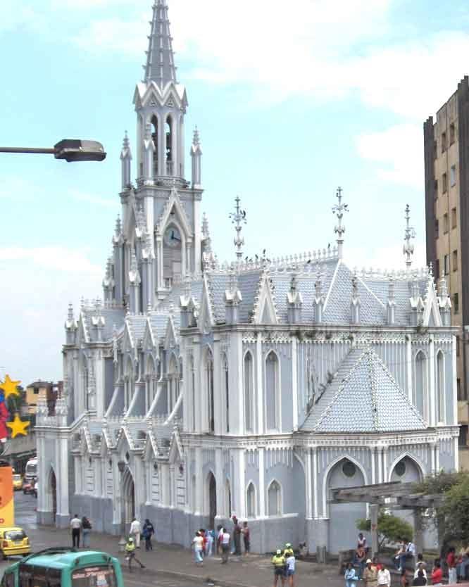 """La iglesia """"La Ermita""""  Fue el primer templo erigido en Cali, aquí se llevó a cabo la primera misa católica de la ciudad en 1536."""