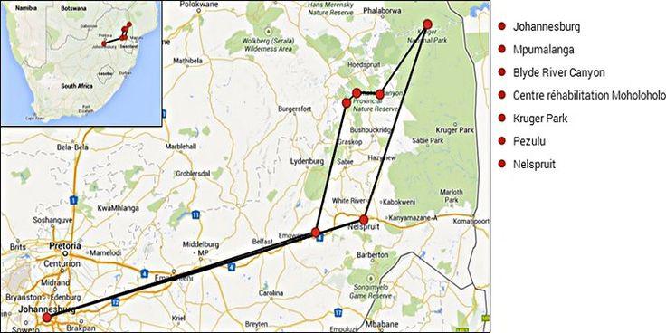 Carte Afrique du Sud 3
