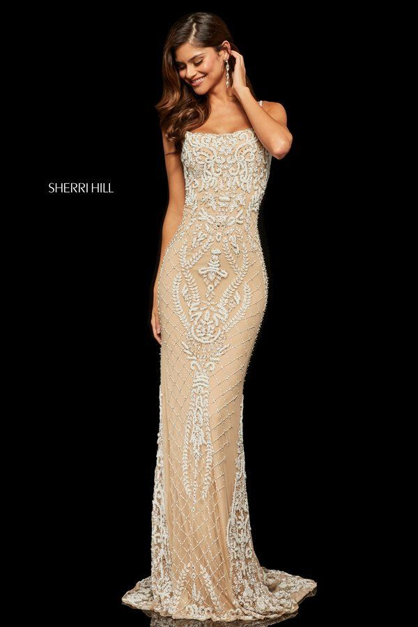 1579f58c26b1d Sherri Hill Style 52454 Nude/Ivory Size 6 | 2019 PROM! in 2019 ...