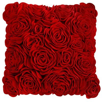 Felt Roses Pillow... I just wonder if you need something with roses... This might work in Joki. $40 Pier 1