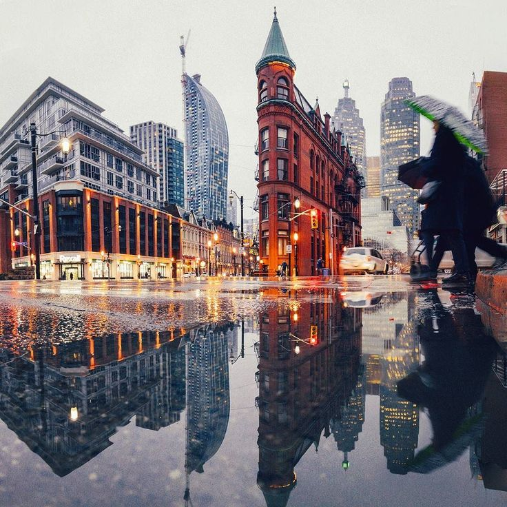 Reflection of the classic Gooderham building. My fav reflection shot of the year!
