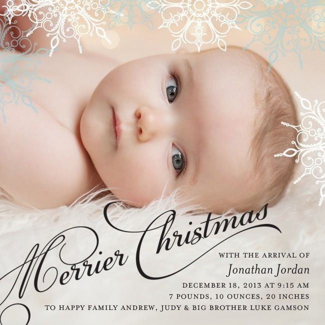 Merrier Christmas Birth Announcement