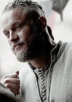 VIKINGS Ragnar. Slightly crazed maybe?  Love him!                                                                                                                                                                                 More