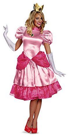Women's Deluxe Princess Peach Costume #princesspeachcosplay #princesspeach #princesspeachcostumes  #supermariocosplay #mariobros #mariobrothers