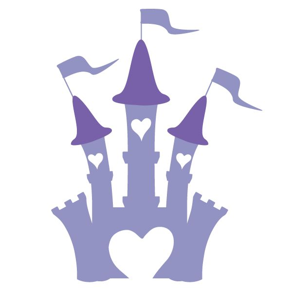 Princess Castle Stencil for Princess Themed Room or Baby Nursery