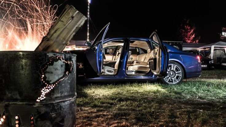 Yes! It's a Rolls-Royce Ghost II on a camp site at the 24h Race at the Nürburgring Nordschleife!  https://passiondriving.de/2015/09/29/rolls-royce-ghost-ii-im-luxuswohnzimmer-beim-24h-rennen-n24livingroom/