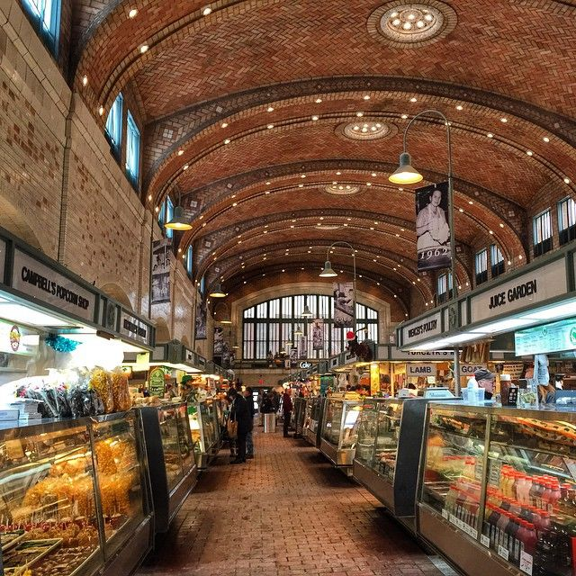 Once of the country's oldest and largest food halls, Cleveland's West Side Market (est. 1912) supports about 100 vendors selling both prepared foods and groceries. Photo courtesy of dangerousbiz on Instagram.