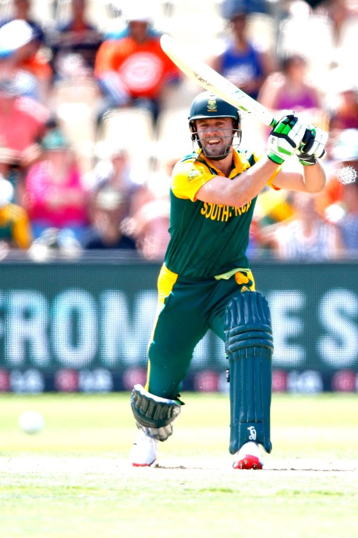 South Africa vs Zimbabwe, Pool B, Match 3 AB de Villiers started positively with a couple of boundaries before holing out to long off.