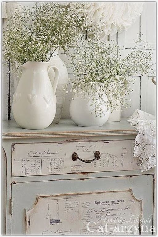 Inspirations: shabby chic on kokoshka.PL - home + interiors + Decoration + inspiration + DIY