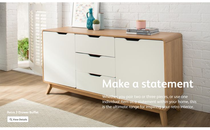 Discover the Retro furniture range from Fantastic Furniture at Crossroads Homemaker Centre