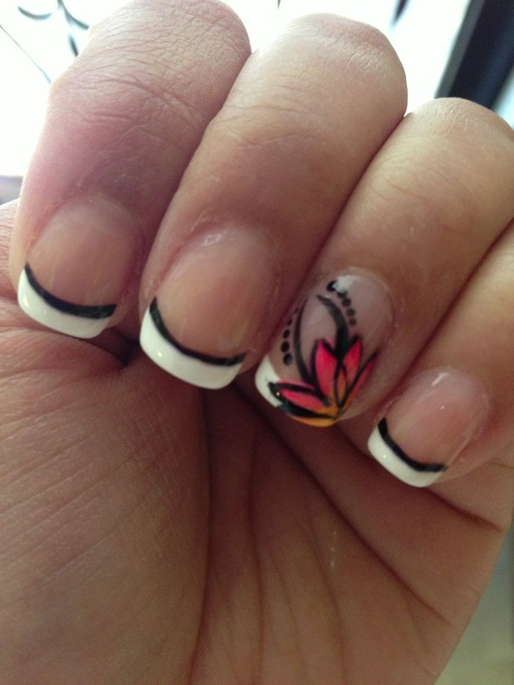 summer time nails 2013   tagged flower nail art flower nail design freehand spring summer