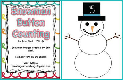 Counting Snowman Buttons---Low Tech and High Tech -  Pinned by @PediaStaff – Please Visit http://ht.ly/63sNt for all our pediatric therapy pins	Math Center, Free Snowman, Winter, Snowman Buttons, Chapel Hill, Counting Freebies, Counting Snowman, Buttons Counting, Teachers Notebooks