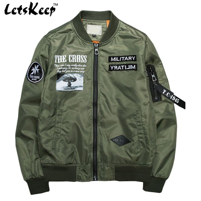 Good price 2017 New spring Military bomber jacket coats men air force one army jacket outerwear mens windbreaker baseball Jackets, MA199 just only $32.19 with free shipping worldwide  #jacketscoatsformen Plese click on picture to see our special price for you