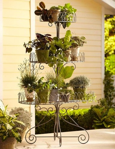 The Scrolls, Flourishes And Lacy Borders That Outline Our Wire Plant Stand  Make A Lively Backdrop For Spring Blossoms Indoors Or Out.