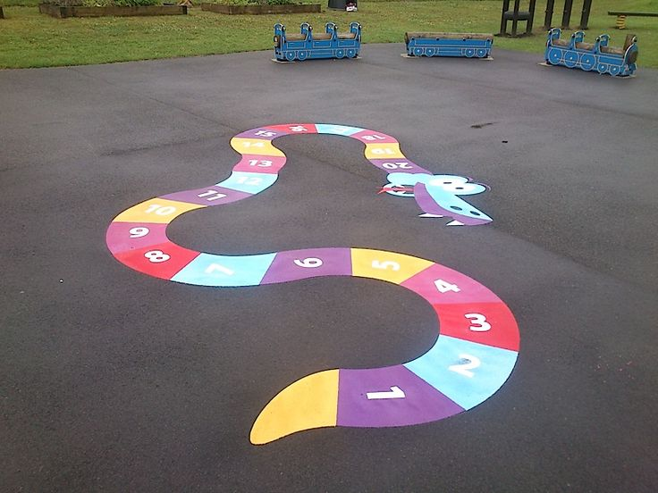 Traditional Playground Games Markings in Blackrock 3